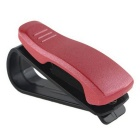 ZIQIAO Car Visor Glasses Sunglasses Ticket Clip Holder - Red + Black