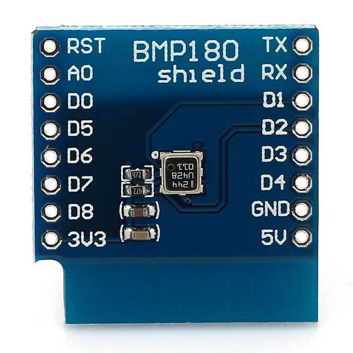 BMP180 Digital Barometric Pressure Sensor Module for D1 MINI - Blue