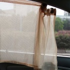 ZIQIAO Car Sun Shade Window Car Window Mesh Interlock Curtain - Beige