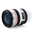 Outdoor Leakproof Thermos Cup Personality Lens Cup - White