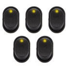 IZTOSS S357Y-5-Z Auto Rocker Toggle Switches w/ Yellow LED Light(5PCS)