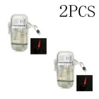 Water Resistant Windproof Butane Lighters - Translucent White (2 PCS)