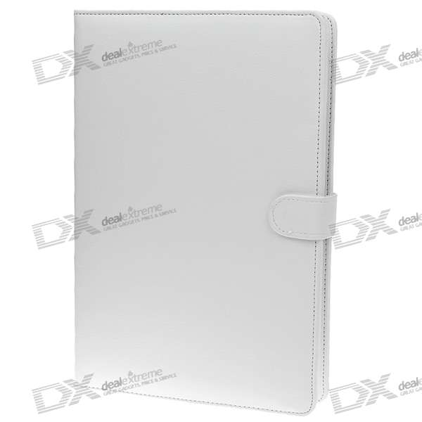 "USB 84-Key Keyboard Leather Case with Stylus for 10.1"" Tablet PC - White"