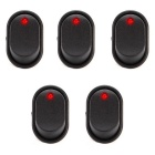 IZTOSS S357R-5-Z Auto Rocker Toggle Switches w/ Red LED Light (5PCS)
