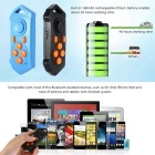 Mini Portable Bluetooth Remote Control - Black + Yellow