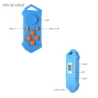 Mini Portable Bluetooth Remote Control - Blue + Yellow