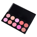 10 Colors Makeup Blush Blusher Powder Palette - Pink + Multicolor