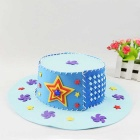 Fashion Knitting EVA Hat DIY Hand-Made Woven Puzzle Toy - Blue + Red