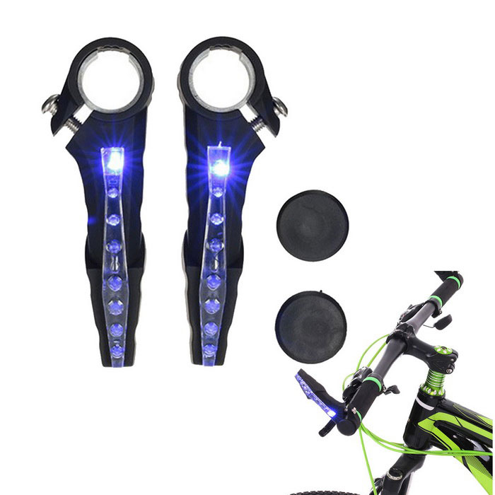 Waterproof LED Bike Handlebar Warning Reflective Blue Light Lamp