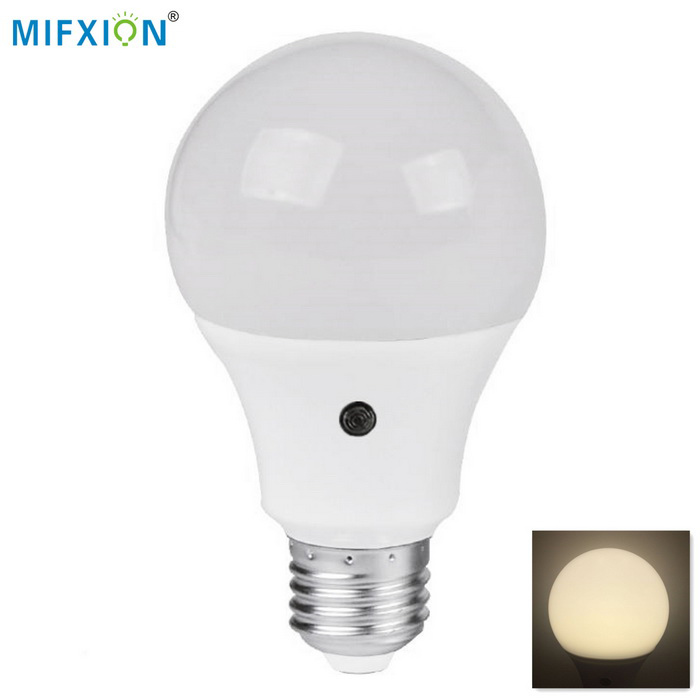 MIFXION 7W E27 14-SMD 2835 Neutral White Light Sensor LED Bulb Light