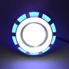 Built-in LED Motorcycle Headlights Devil Angel Eyes Big Blue Light