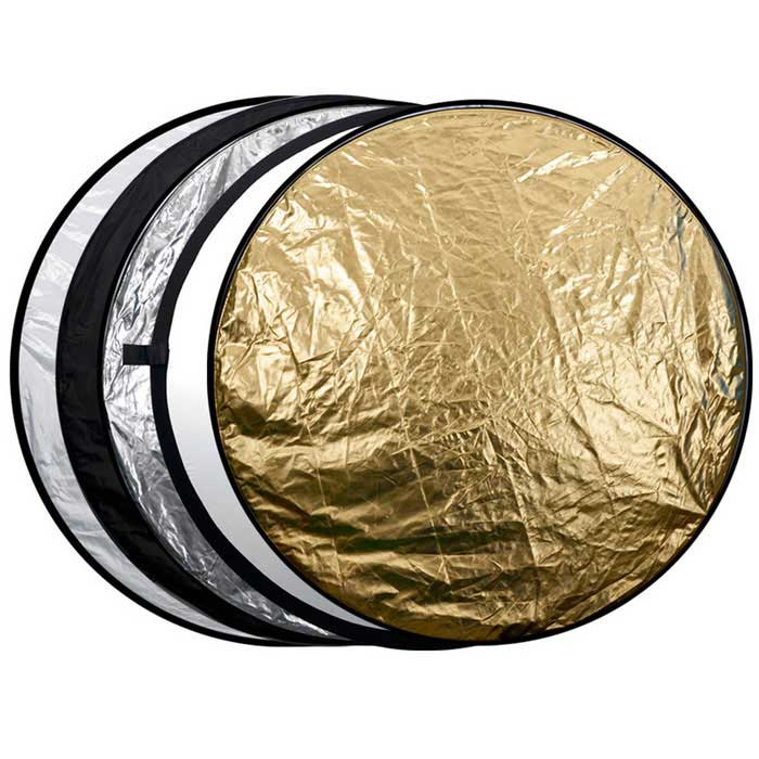 "Sidande 43"" 5-in-1 Collapsible Disc Photograph Studio Light Reflector"