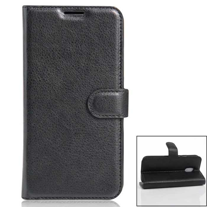 PU Leather Wallet Cases w/ Card Slots for Xiaomi Redmi Pro - Black