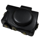 PU Leather Camera Case Bag for Canon G5X Camera - Black