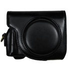PU Leather Camera Case Bag for Canon G9X Camera - Black