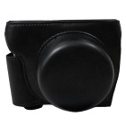 PU Leather Camera Case Bag for Nikon J5 Mini DSLR Camera - Black