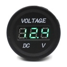 CS-016B3 Car / Motorcycle Voltmeter w/ Green Display - Black
