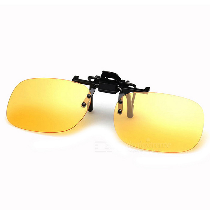Upgrade the Sixth Generation Clip-on Sunglasses - Yellow + Black