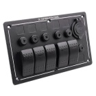 CS-445A1 Boat RV Modified Five-Gang Panel Switch w/ Dual USB Charger