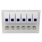 CS-374A2 12-24V Car RV Modified Switch Panel - White
