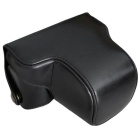 PU Leather Camera Case Bag for Olympus EP5 Mini DSLR - Black