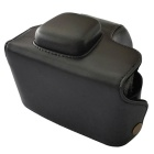 PU Leather Camera Case Bag for Olympus EPL5 Mini DSLR - Black