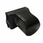 PU Leather Camera Case Bag for Panasonic GF3 GF5 GF6 Mini DSLR - Black