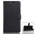 PU Leather Wallet Cases w/ Card Slots for Cubot Dinosaur - Black