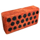 Funny Short Plush Brick Style Take a Nap Pillow Toy - Brown + Black