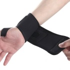 Sports Elastic Stretchy Wrist Joint Brace Support Wrap Band - Black