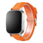 NX9/W9 Bluetooth Smart Watch for Android and iOS - Orange + Silver