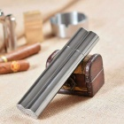 Stainless Steel Cigar Holding Case - Silvery Grey