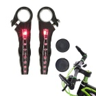 Waterproof LED Bike Handlebar Warning Nocturnal Reflective Light Lamp for MTB Racing Night Riding