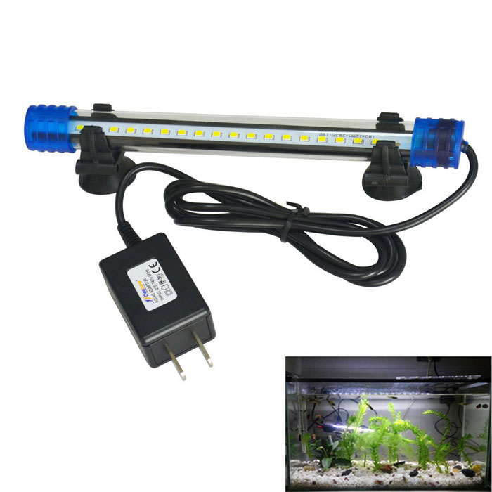 Jiawen 20cm 1W Cold White 18-LED Aquarium Light (US Plugs)Pet Fish Zone<br>Form ColorBlue + TransparentMaterialPlasticQuantity1 DX.PCM.Model.AttributeModel.UnitPower1 DX.PCM.Model.AttributeModel.UnitLED Quantity18Voltage220~240 DX.PCM.Model.AttributeModel.UnitPower AdapterUS PlugsOther FeaturesWire length: 100cmPacking List1 * LED Aquarium Light<br>