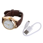 Stylish PU Band Quartz Analog Wrist Watch w/ Cigarette Lighter