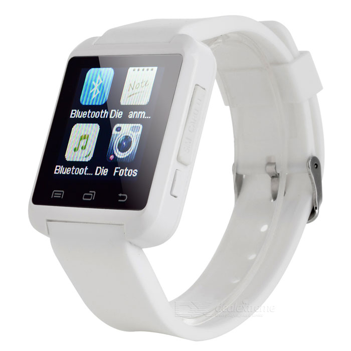 "S5 1.44"" Bluetooth 2G Smartwatch Phone w/ 32MB + 32MB Memory - White"
