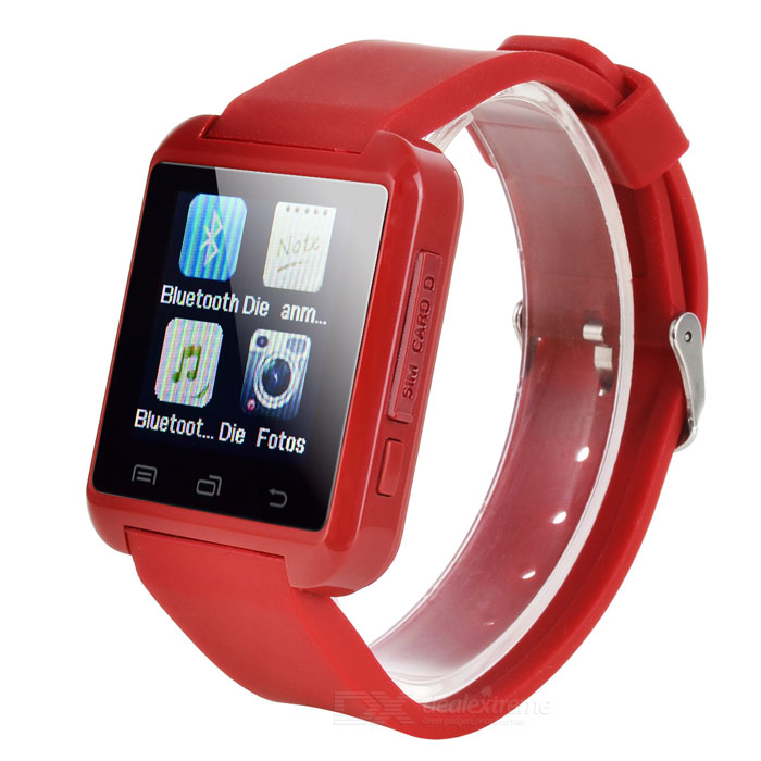 "S5 1.44"" Bluetooth 2G Smartwatch Phone w/ 32MB + 32MB Memory - Red"