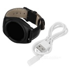 NO.1 G4 MTK6261A 1.2 Inch Round Screen Steel Strap Smart Watch - Black
