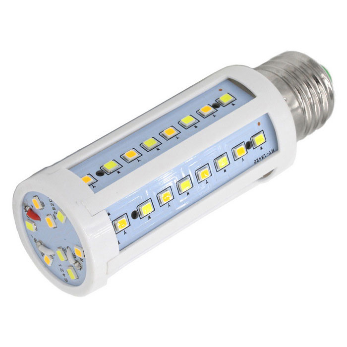 FLYLI E27 10W Warm White/Natural /Cool White Light 56-LED Corn BulbE27<br>Color BINOthersMaterialPlasticForm  ColorWhite + Yellow + Multi-ColoredQuantity1 DX.PCM.Model.AttributeModel.UnitPower10WRated VoltageAC 220 DX.PCM.Model.AttributeModel.UnitConnector TypeE27Chip BrandEpistarEmitter TypeOthers,2835Total Emitters56Actual Lumens1200-1500 DX.PCM.Model.AttributeModel.UnitColor Temperature12000K,Others,2500~3500K,  3500-5500K, 5500~7000KDimmableNoBeam Angle360 DX.PCM.Model.AttributeModel.UnitPacking List1 * LED lamp<br>