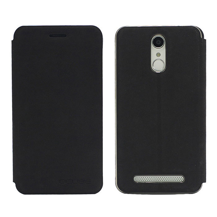 OCUBE PU Leather Case for Homtom HT17  Mobile Phone - Black