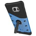 TPU + PC Back Case w/ Holder Stand for Samsung Note 5 - Black + Blue