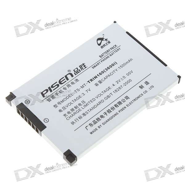 3.7V 1500mAh Rechargeable Li-Ion Battery for HTC P3600/P3600i/VX6800/CHT9110/E616/D810