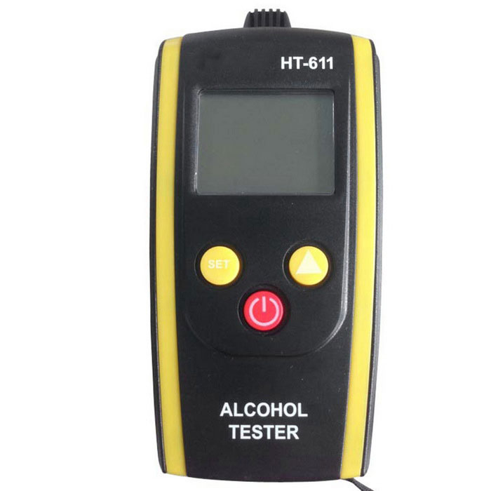 Outdoor Drunken Driving Detector Breath Alcohol Tester - Black +Yellow