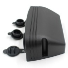 CS-305A1 12V Tent Style Car Cigarette Lighter Dual USB Charger - Black