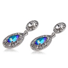 Xinguang Women's Beautiful Color Crystal Earrings - Silver