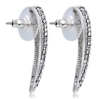 Xinguang Women's Arc Full Drill Crystal Earrings - Silver