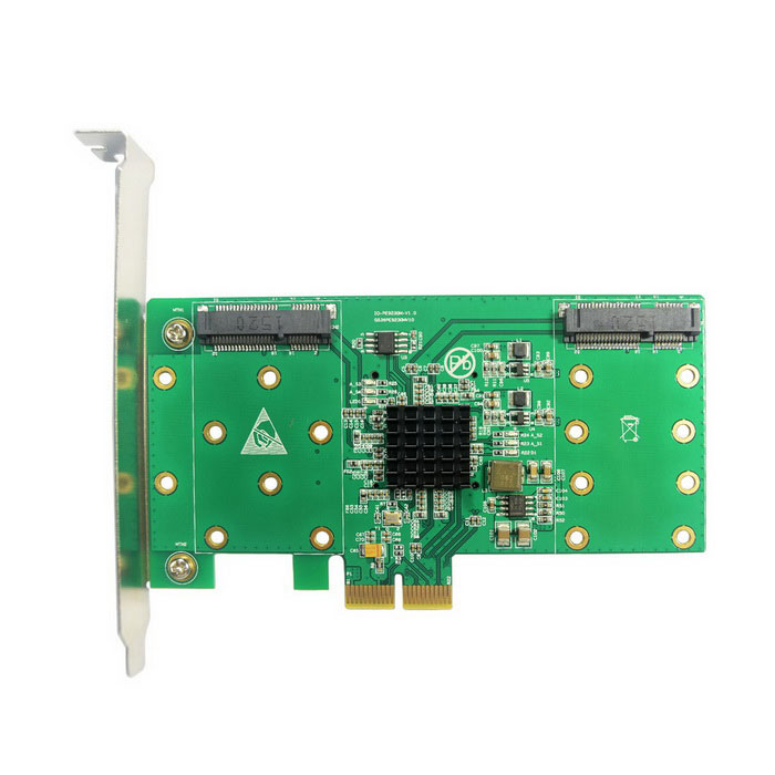 PCI-e 2.0 TO 4x mSATA Host Adapter  SI-PEX40109