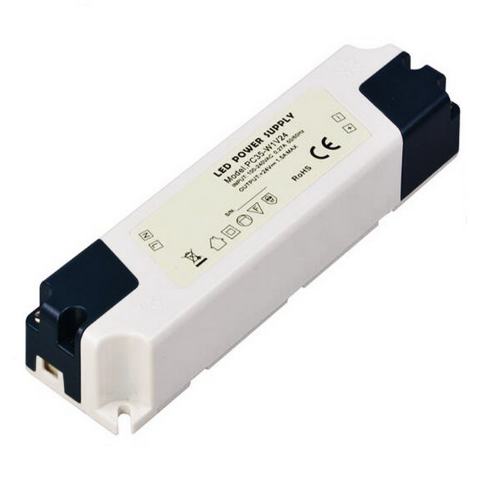35W 24V 1.5A Switching Power Supply Driver for LED Strip Light - WhiteLED Power Drivers<br>ModelPC35-W1V24MaterialPlasticForm  ColorGreyish White + Dark Blue + Multi-ColoredQuantity1 DX.PCM.Model.AttributeModel.UnitWater-proofNoInput VoltageAC100-240V  50/60HZ DX.PCM.Model.AttributeModel.UnitOutput VoltageDC 24 DX.PCM.Model.AttributeModel.UnitWorking Temperature-20~60 DX.PCM.Model.AttributeModel.UnitOutput Current0~ 1.5 DX.PCM.Model.AttributeModel.UnitInput Current0.27 DX.PCM.Model.AttributeModel.UnitRated Working Voltage24 DX.PCM.Model.AttributeModel.UnitWorking Current1.5 DX.PCM.Model.AttributeModel.UnitCertificationROHS CEPacking List1 x LED power supply driver<br>