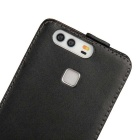 Split Leather Top-Flip Open Case for Huawei P9 - Black