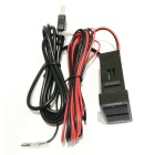 New Toyota Waterproof Double USB Car Audio Line Cable - Black